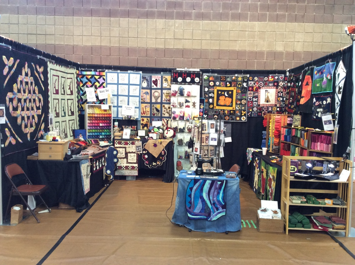 "The ""Generations"" booth at the Simi Valley Quilt Show"